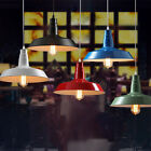 Retro Industrial Colorful Pendant Lamp Shade Ceiling Light Fixtures Chandelier