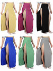 Sexy Long Maxi Full Skirt Womens Solid High Waist Front Opening High Double Slit