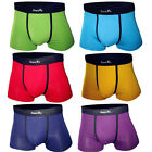 8 Colors Sexy Pure Color Men's Cool Underwear Mens Boxer Brief Underpants