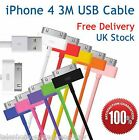 1M 3M USB DATA SYNC CHARGING CHARGER CABLE FOR iPhone 4 4S 3G 3GS iPad 2 iPod