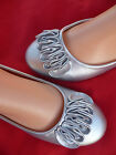 NEW SILVER WOMEN'S FLAT SHOES SIZE 5.5-8.5