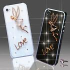 NEW 3D DELUX COOL BLING DIAMANTE ANGEL TINKERBELL CASE VARIOUS MOBILE PHONES UK