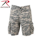 New Rothco 2520 Vintage ACU Camo Infantry Flat Front Extra Long Cargo Shorts