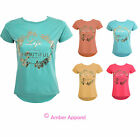 WOMENS PRINT SLOGAN LIFE IS BEAUTIFUL LADIES GOLD EMBELLISHED TSHIRT TOP