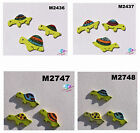 """TURTLES -  HANDMADE CERAMIC MOSAIC TILES use in your Project( 1/4"""" thick) #1"""