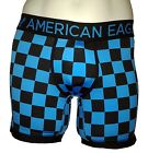 NWT AMERICAN EAGLE OUTFITTERS MENS CHECKED LONGER LENGTH PERFORMANCE TRUNK BOXER