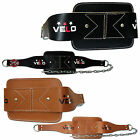 VELO Leather Dipping Belt Body Building Weight Dip Lifting Chain Exercise Gym