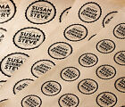 Personalised wedding stickers - brown kraft vintage favour party adhesive sweets