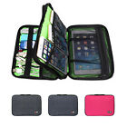 Double Decker BUBM Function Storage Carry Bag Case for USB Cable Power Tablet