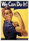 Rosie the Riveter Classic  WWII Poster  We Can Do It ! USA Vintage Retro Inspire