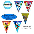 MICKEY MOUSE CLUBHOUSE MINNIE MOUSE PARTY FLAG BANNERS - PARTY SUPPLIES - 1 PACK