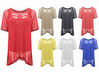 Ladies Womens NEW Netted Vest Cami Summer Festival Tunic Blouse Top Loose Blouse