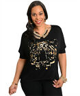 New Black Mocha Animal Print Top