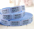 Personalised Retro Tickets - Wedding Birthday Baby Shower Carnival Drink Circus