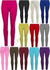 GIRLS PLAIN VISCOSE LEGGINGS CHILDREN STRETCHY LEGGING PANTS SIZE 2-13 YEARS