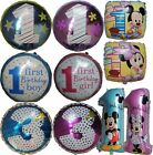 NUMBER 1,3 (BABY BOY / GIRL) BALLOON FIRST THIRD BIRTHDAY PARTY SUPPLIES - 1PCE