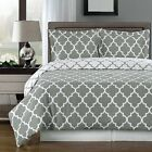 100% Combed Cotton Duvet Cover Set- Meridian Reversible 3-PC 300 Thread Count image