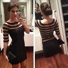 Women Sexy Black Long  Formal Cocktail Backless Cocktail Evening Party Dress Hot
