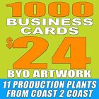1000 CUSTOM DOUBLE SIDED BUSINESS CARDS + FREE SHIPPING! BYO ARTWORK!