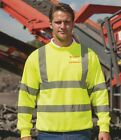 WE SUPPORT WESSEX 4 X 4 RESPONSE  HI VIS SWEATSHIRT LOGO TO FRONT AND BACK