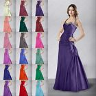 Hot Halter Bridesmaid Prom Dresses Sexy Gown Wedding Evening Taffeta Size 6-26