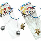 HEADBOPPERS HEADBAND SILVER BALLS GOLD STARS FAIRY ALIEN - HEAD BOPPERS NEW BAND