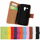 Genuine Leather Wallet Stand Case Cover For Samsung Galaxy Trend Plus GT-S7580