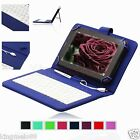 Micro-USB Keyboard Leather Case Cover For 7 RCA 7 Voyager RCT6773W22 Tablet HW