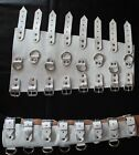 White Real Cow Leather Arm Gauntlets Goth EMO Punk Armbinder 3 Colors