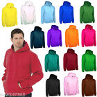 Mens Hooded Sweatshirt Hoodie Size XS to 4XL NEW Super Soft Plain Pull Over