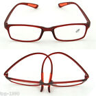 Red Women Lady TR90 Reading Glasses Readers Work Spectacles Eyeglass +1.0~+4.0