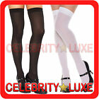 Sheer Thigh High Stockings Socks Black Red White Fancy Dress Costume School Girl
