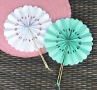 40 NEW Rosette Paper Hand Fans Wedding Favors Color Choice Q11867