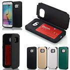 Credit Card Slot Wallet ID Case Dual Layer Protection for Samsung Galaxy S6/Edge