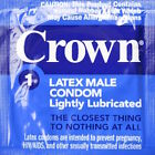 Crown Skinless Super Thin Lightly Lubricated Latex Condoms Pack of 2 - 100. NEW