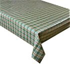 Green Gingham Check Hearts Vinyl Tablecloth Textile Backed Pvc Wipe Clean (74)