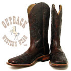 Boulet Men's Brown Tooled Western Boots 1167