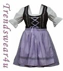DIRNDL German Bavarian Oktoberfest 3Pc Embroidery Dress Women Party Trachten