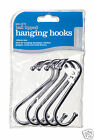 """Kitchen Craft Pack of Five Chrome Plated 'S' Hooks ~ 3"""" 8cm ~ 4"""" 10cm ~ 5"""" 12cm"""