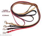3.8 ft - 115 cm Strong Genuine Leather Dog Lead Leash 4 Colours 4 Widths