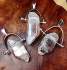 Quartz Necklace - Silver Gemstone Point Pendant (L51) Healing Crystals Stones