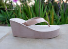 NEW Women's Platforms Wedge T-Strap Fashion Sandals Shoes Casual Flip Flop--1098