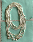 Sterling silver 5pcs 1mm 2mm snake chain necklace 16 18 20 22 24 26 28 30inch