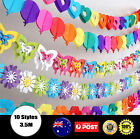 Rainbow colours Hanging Paper Chain Flower Wedding Birthday Party Decoration pom