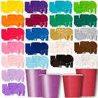 PARTY TABLEWARE PAPER CUPS SOLID COLOUR / STRIPE / DOTS / CHEVRON DESIGN