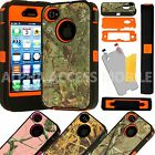 Rugged Hard Impact Hybrid Shockproof Camo Case Cover For Apple Iphone 4 4s