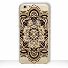 HENNA Flower Paisley Tribal Elephant Cover Phone Case for iPhone 5S SE 6 6S 7 +