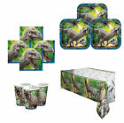 JURASSIC WORLD PARK BIRTHDAY PARTY TABLEWARE DECORATIONS Plates, Napkins, Packs