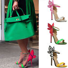 Lady Strap Butterfly Wings High Heel Open Toe Princess Ankle Sandals Cuff Shoes