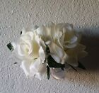 Ivory Open Rose Corsage And Boutonniere